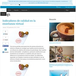 Indicadores de calidad en la enseñanza virtual