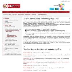 Sistema de Indicadores Sociodemográficos - SISD