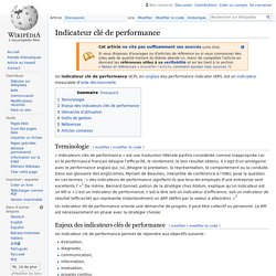 Indicateur clé de performance