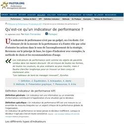 Qu'est-ce qu'un indicateur de performance ? Définition KPI
