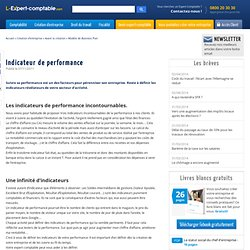 Les indicateurs de performance (3)