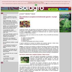 SOLAGRO - 2012 - Des indicateurs européens de biodiversité agricole : le projet BioBio