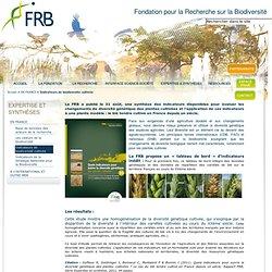 Étude sur les indicateurs de biodiversité cultivée - Fondation pour la Recherche sur la Biodiversité