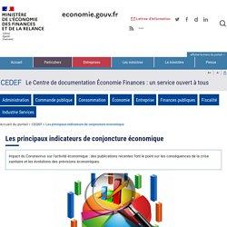 Où consulter les principaux indicateurs de conjoncture économique ?