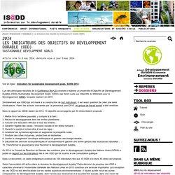 Les indicateurs des objectifs du développement durable (ODD)