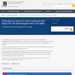 Indicateurs pour le suivi des objectifs de développement durable
