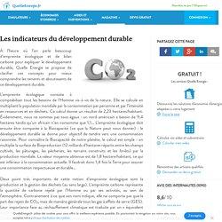 Les indicateurs du développement durable