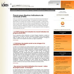 Forum pour d'autres indicateurs de richesse (FAIR)
