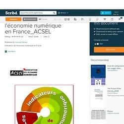 Indicateurs de l'économie numérique en France_ACSEL