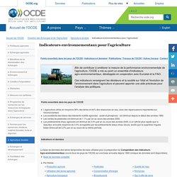 Indicateurs environnementaux pour l'agriculture