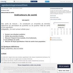 INDICATEURS DE SANTE - epidemioprevention