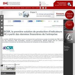 ABCSR, la première solution de production d'indicateurs RSE à partir des données financières de l'entreprise