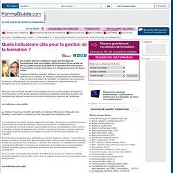 Quels indicateurs clés pour la gestion de la formation ? - Formaguide.com