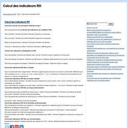 Calcul des indicateurs RH