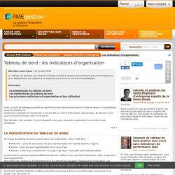 Tableau de bord : les indicateurs d'organisation - Piloter son entreprise - PME-Gestion