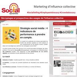 Stratégie social média : 4 indicateurs de performance à prendre en compte.