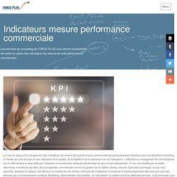 Consulting indicateurs mesure performance commerciale