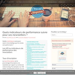 Quels indicateurs de performance suivre pour ses newsletters ?