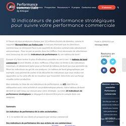 10 indicateurs de performance commerciale - Performance commerciale