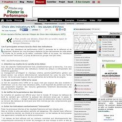 Choix des indicateurs de performance KPI: les causes d'echecs