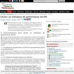 Choisir les indicateurs de performance clé efficace KPI : 5 recommandations