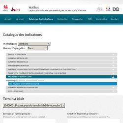 Catalogue des indicateurs statistiques - WALSTAT