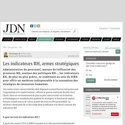 Les indicateurs RH, armes stratégiques