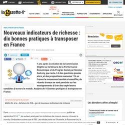 Nouveaux indicateurs de richesse : dix bonnes pratiques à transposer en France