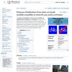 Panneau d'indication d'une piste ou bande cyclable conseillée et réservée aux cycles en France