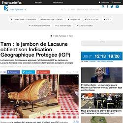 FRANCE 3 MIDI PYRENEES 28/08/15 Tarn : le jambon de Lacaune obtient son Indication Géographique Protégée (IGP)