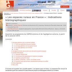 « Les espaces ruraux en France » : indications bibliographiques