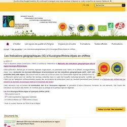 INAO 06/01/17 Les Indications géographiques (IG) d'Auvergne-Rhône-Alpes en chiffres