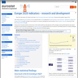 Europe 2020 indicators - research and development - Statistics Explained