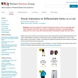 Visual Indicators to Differentiate Items in a List