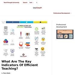 16 Indicators Of Efficient Teaching