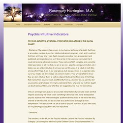 Psychic Intuitive Indicators | Rosemary Harrington, M.A.