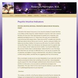 Psychic Intuitive Indicators | Rosemary Harrington, M.A.