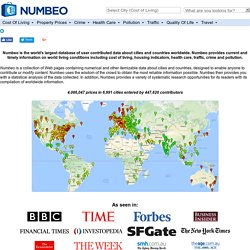 Numbeo - Crowdsourcing of everydaylife information