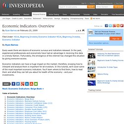 Economic Indicators: Overview