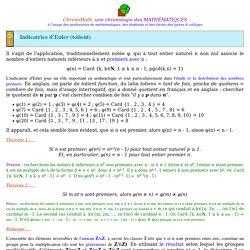 Indicatrice d'Euler (totient)