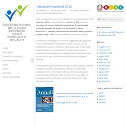 Indicazioni Nazionali 2012 – Indicazioni Nazionali