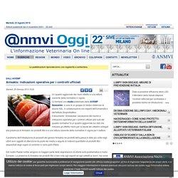 ANMVIOGGI 29/06/13 Anisakis: indicazioni operative per i controlli ufficiali