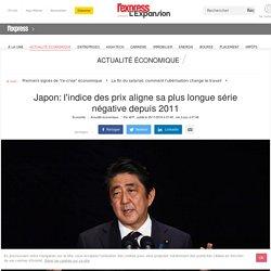 Japon: l'indice des prix aligne sa plus longue série négative depuis 2011
