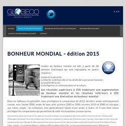 Indice du Bonheur Mondial édition 2015