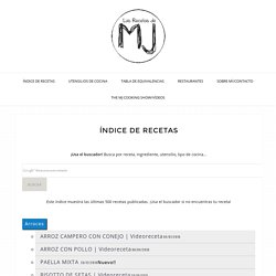 ÍNDICE DE RECETAS - Las Recetas de MJ