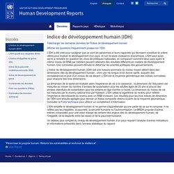 Indice de développement humain (IDH) selon le PNUD