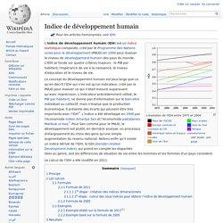 IDH - Indice de développement humain