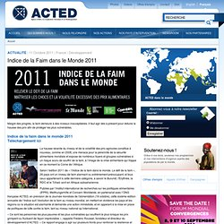 Indice de la Faim dans le Monde 2011
