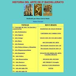 Índice de Historia del Arte (Elena García Marín)