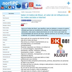 Saber mi índice de Klout, mi influencia en las redes e internet